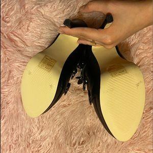 Shoe Dazzle Shoes - *BRAND NEW* Black lace-up heels with platform